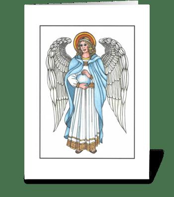 TRADITIONAL GUARDIAN ANGEL greeting card