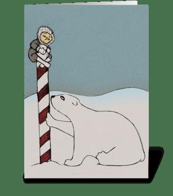 At the North Pole greeting card