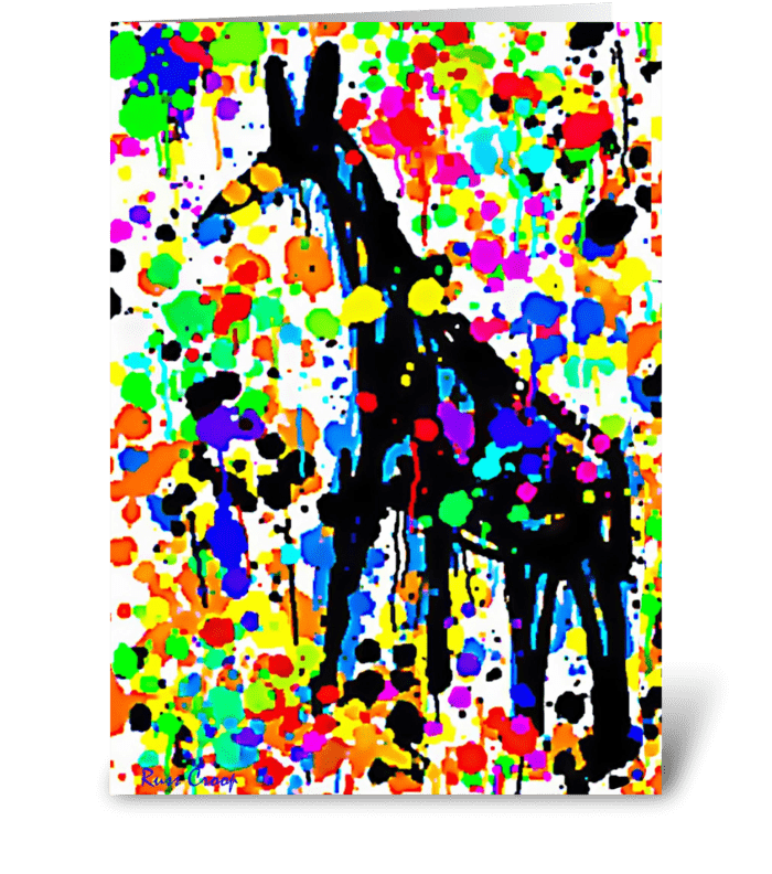 A Giraffe named Betty greeting card