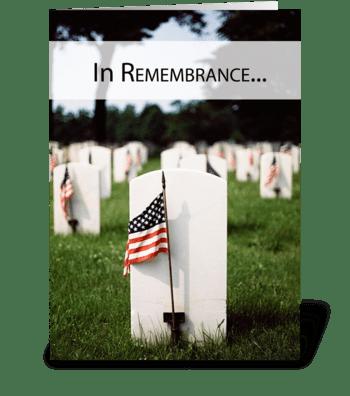 3446 Memorial Day Patriotic, Remembrance greeting card
