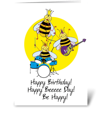 Birthday-Happy-Bee greeting card