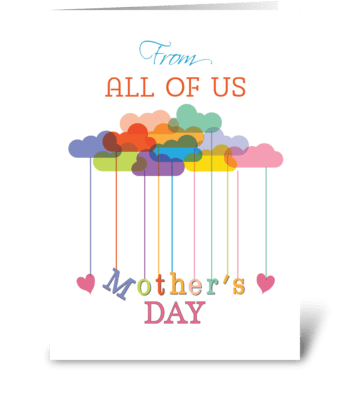 From All of Us, Cute Mother's Day Rainbo greeting card