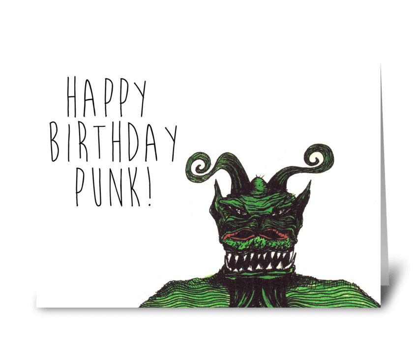 Happy Birthday Punk greeting card