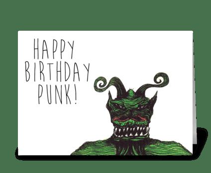Happy Birthday Punk greeting card