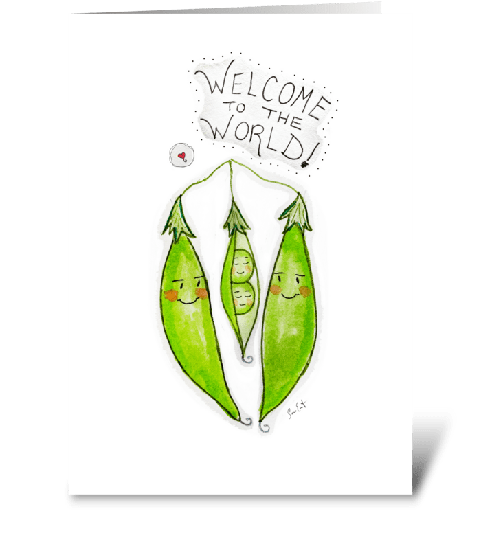 Welcome To The World Twins greeting card