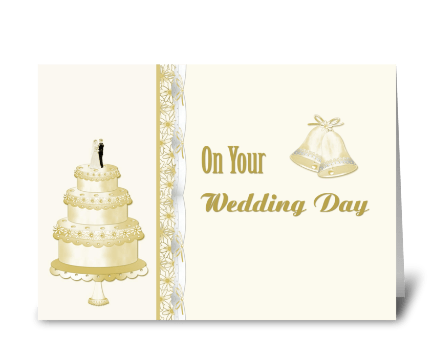 Wedding Cake Congratulations  greeting card