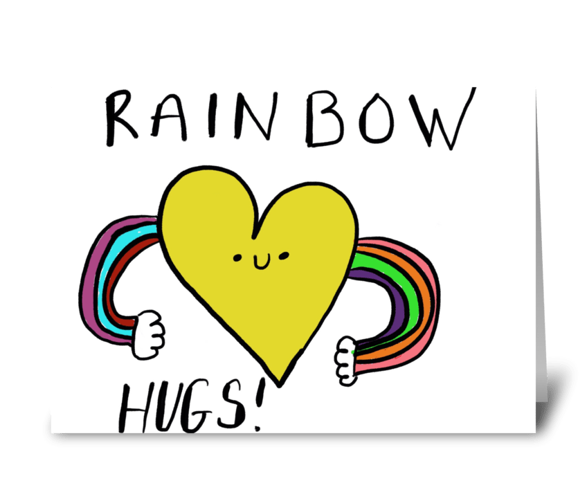 Rainbow Hugs greeting card