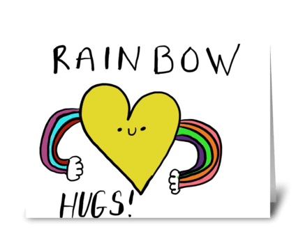 Rainbow Hugs greeting card
