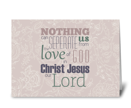 Verse Card greeting card