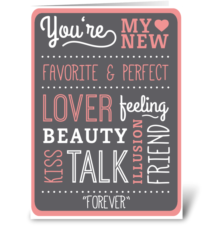 I LUV WORDS greeting card