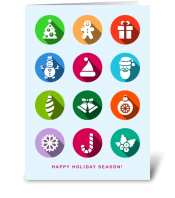 Happy Holiday Season/Christmas/New Year greeting card