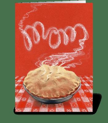 Mom's apple pie greeting card