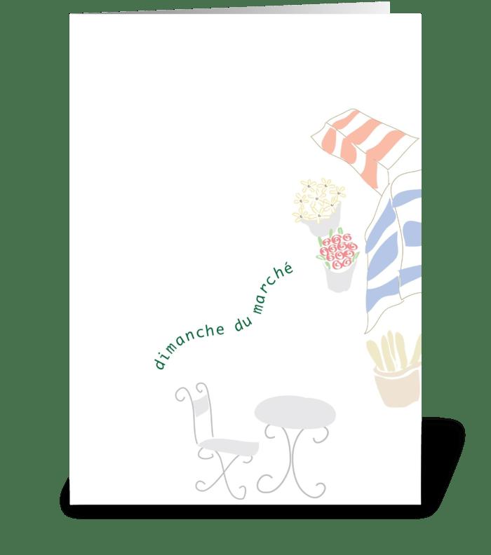 Oo-La-La - Dimanche du Marché greeting card