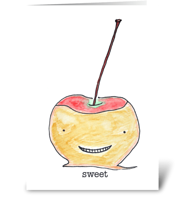 Sweet Apple greeting card
