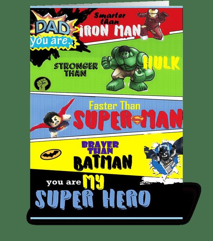 super dad greeting card