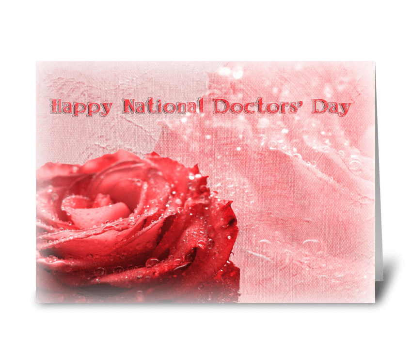 Happy National Doctors' Day greeting card