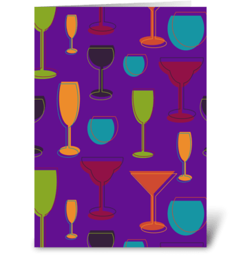 Drinking glasses greeting card