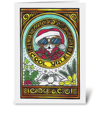 Cool Yule greeting card