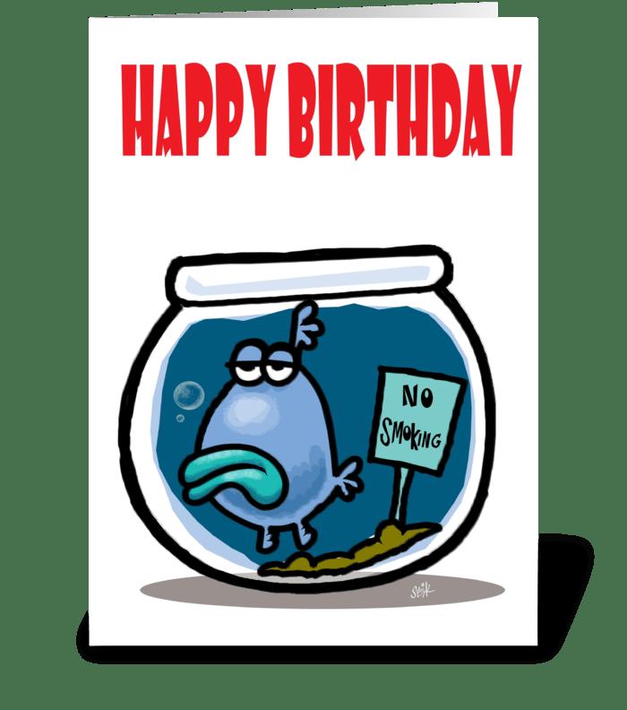 No Smoking Birthday card greeting card