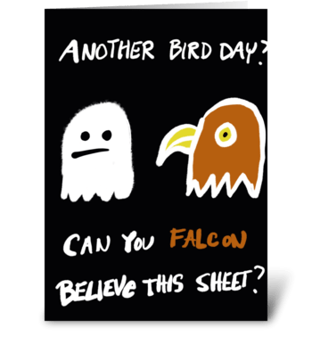 Can you Falcon Believe This Sheet? greeting card