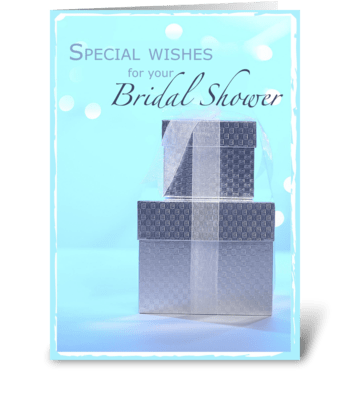 Bridal Shower Gifts Congratulations greeting card