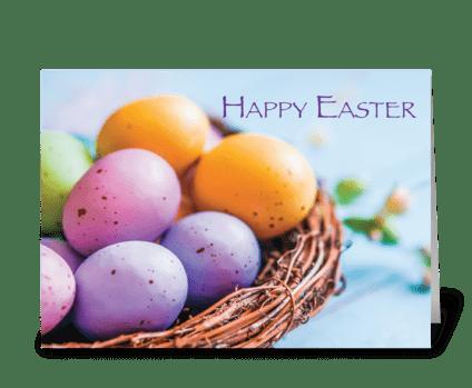 Nest Easter Basket greeting card