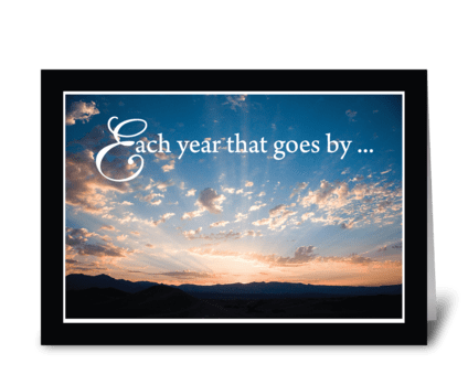 Sunset Sky Religious Birthday greeting card
