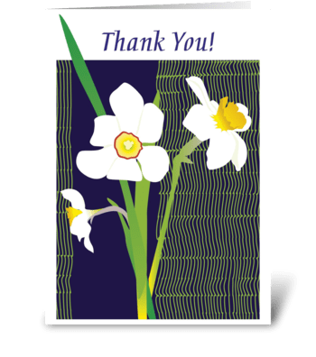 Floral_narcissus greeting card