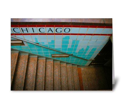Chicago Subway Station greeting card