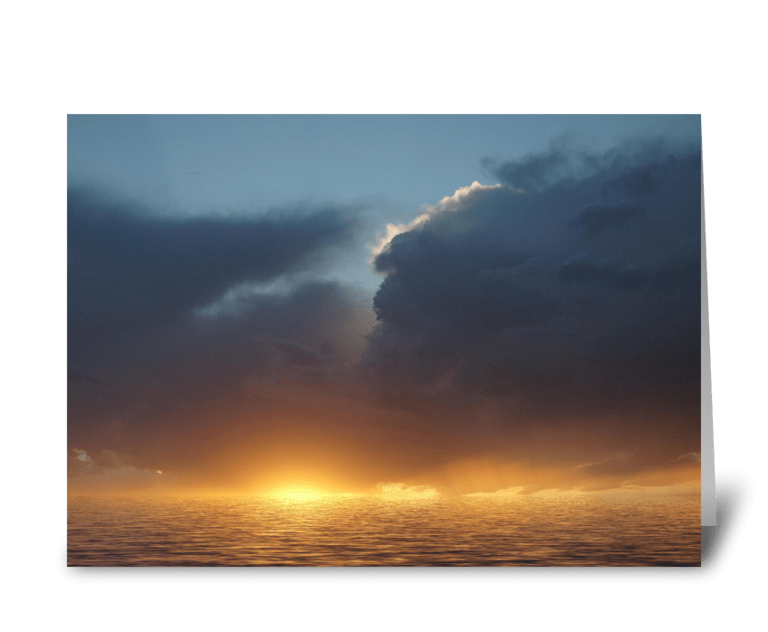 Electric Sunset greeting card