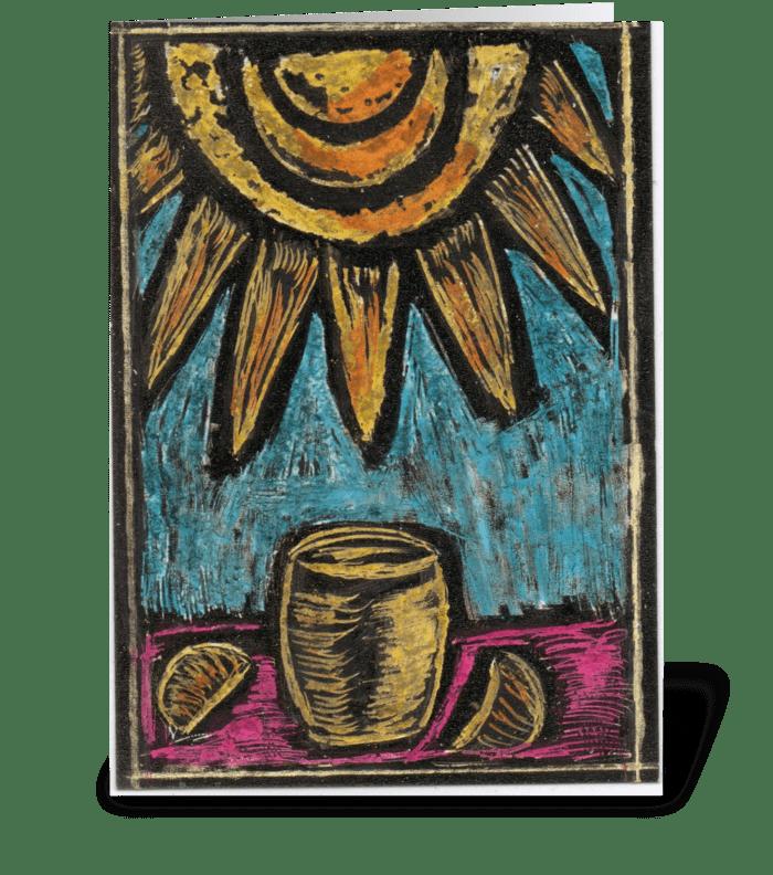Lemonade In The Sun greeting card