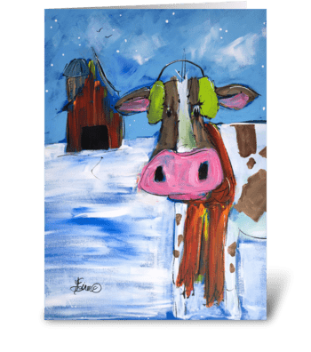 Up Nort greeting card