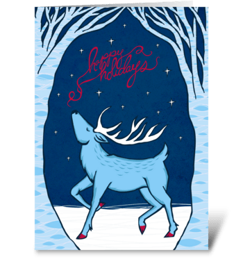Holiday Deer greeting card
