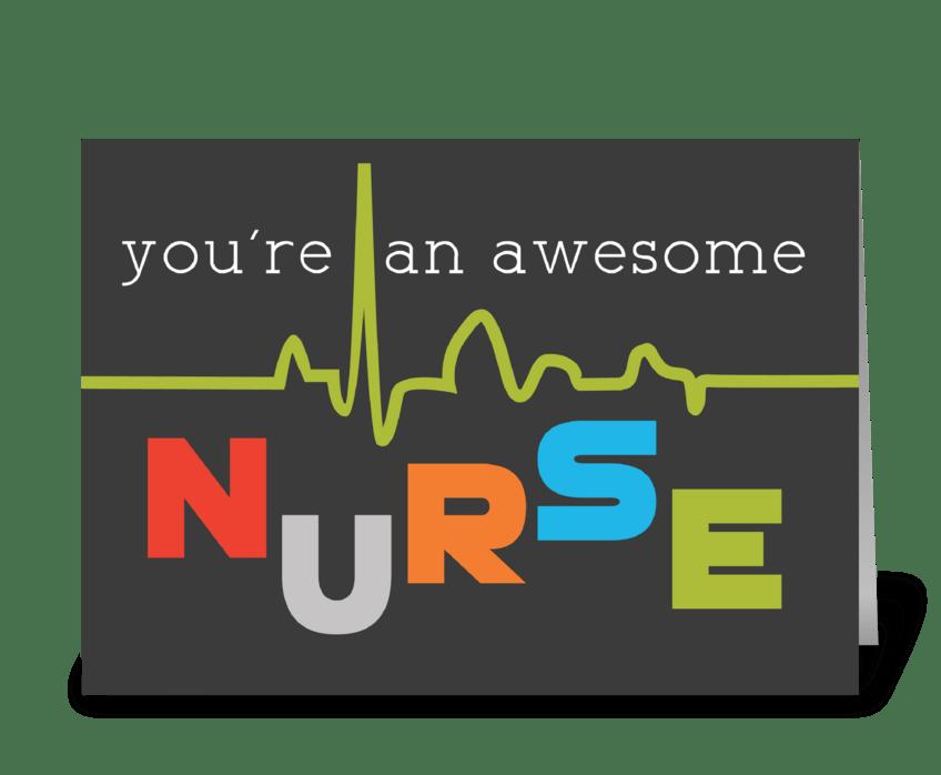 Awesome Nurse Appreciation on Nurses Day greeting card