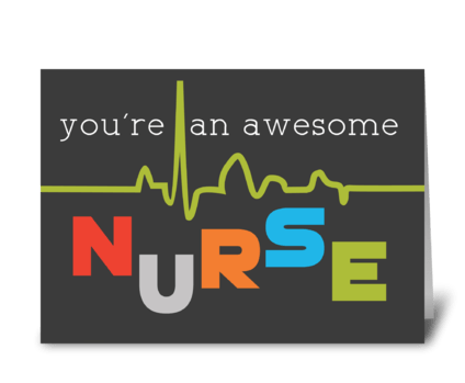 Awesome Nurse Appreciation on Nurses Day greeting card
