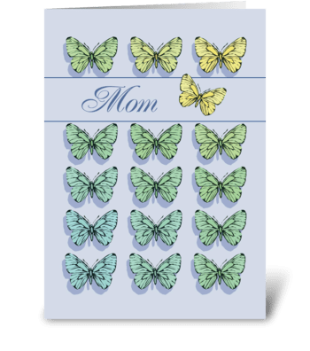 Mother's Day Butterfly Flying greeting card