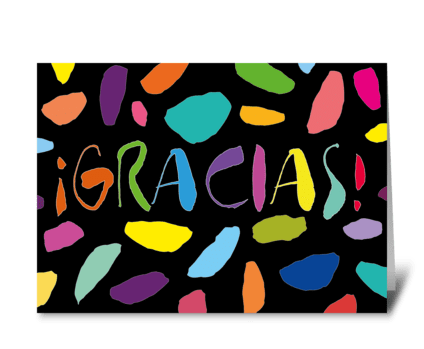 80 Gracias card greeting card
