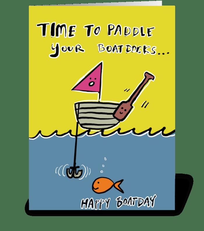Paddle Boatdocks  greeting card