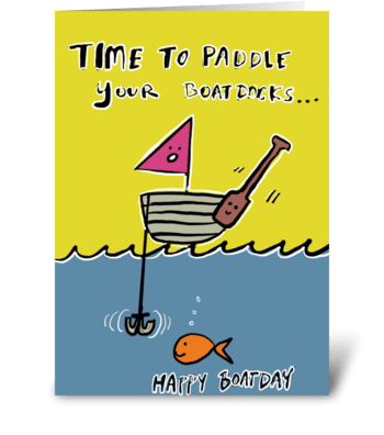 Paddle Boatdocks  greeting card