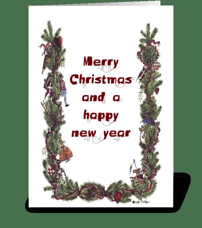Fairytale Christmas greeting card