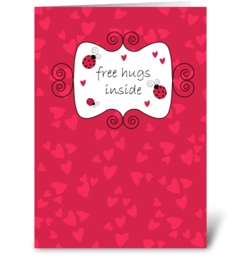 Free Hugs - Thinking of You greeting card
