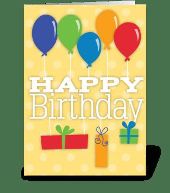 Birthday Balloons & Gifts greeting card