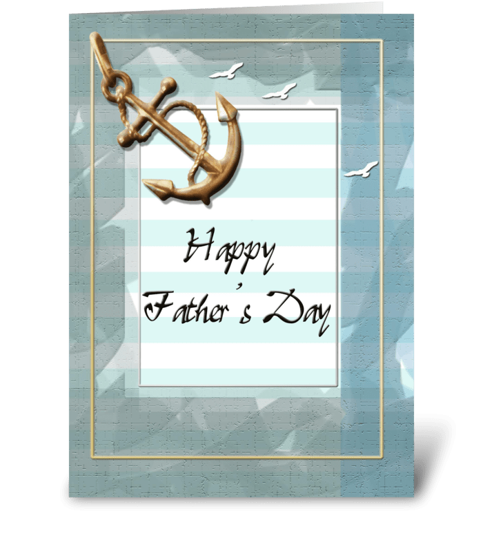 Father's Day, Brass Anchor Design greeting card