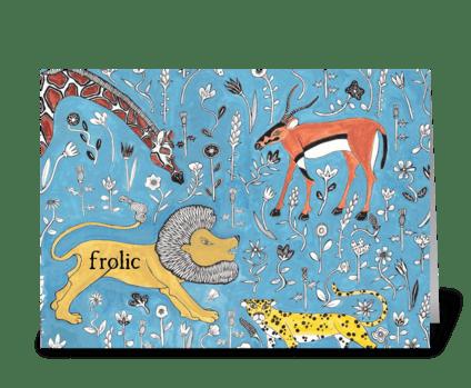 frolic greeting card