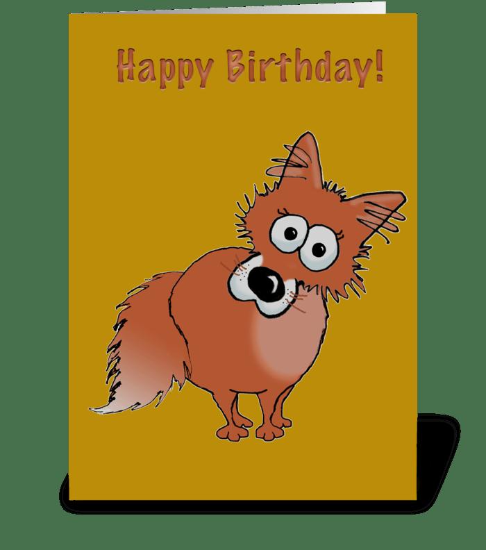 Fox Happy Birthday greeting card