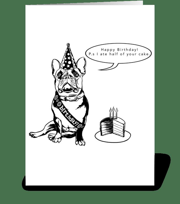 French Bulldog Birthday Card greeting card