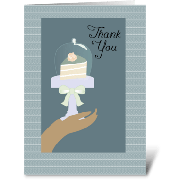 Slice of Cake Thank You for Baked Goods  greeting card