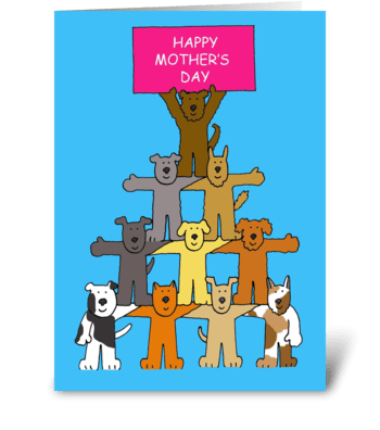 Mother's Day Fun Dogs greeting card