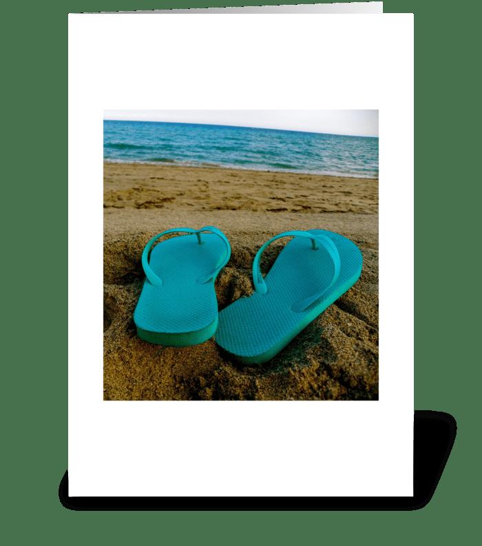 beach time greeting card