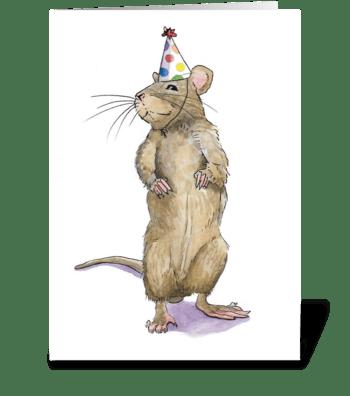 Rat Party Animal greeting card